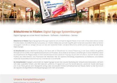 Digital Signage Technologie